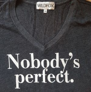 """Wildfox Tops - Wildfox """"Nobody's Perfect"""" top XS oversized"""
